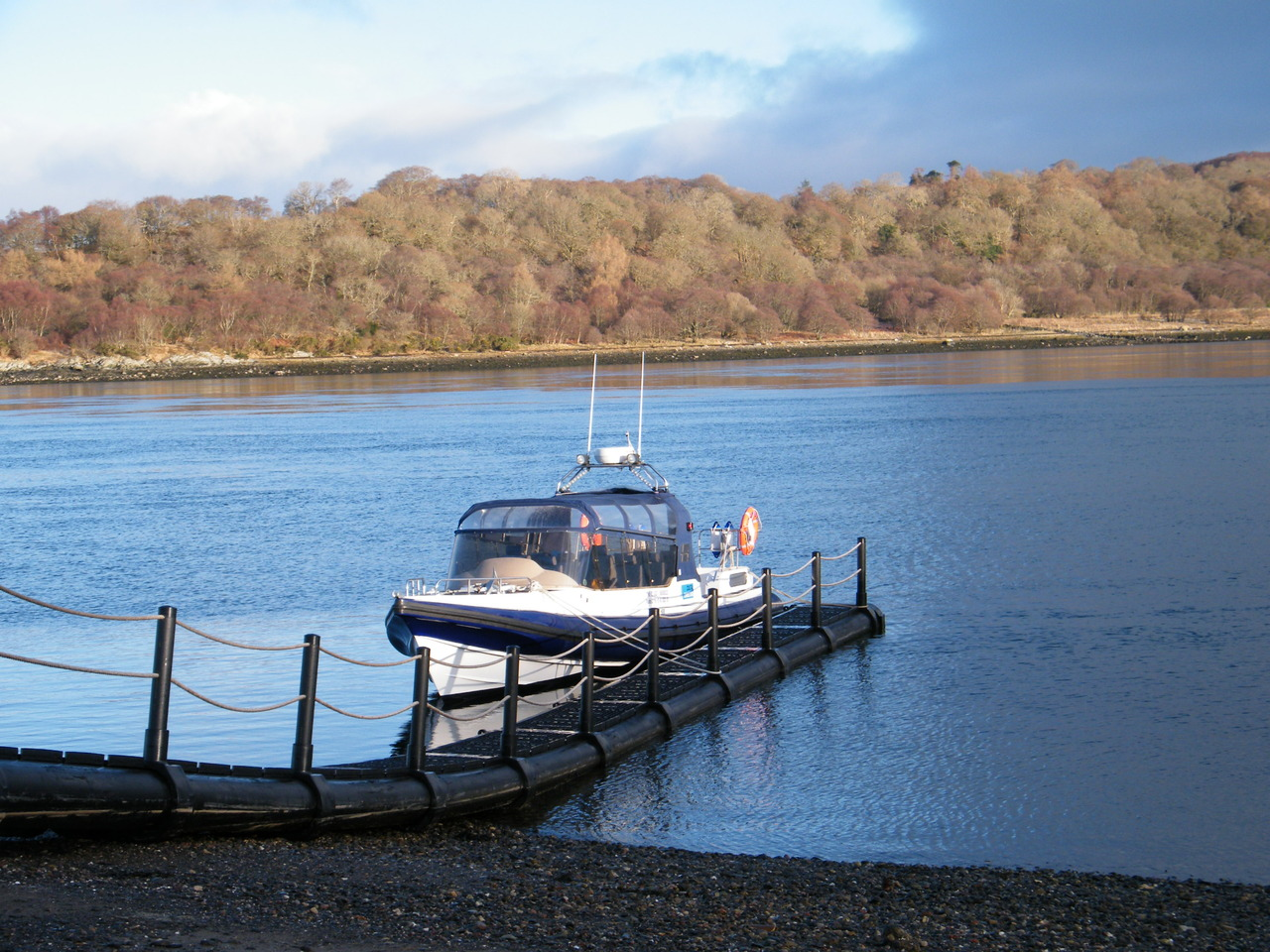 Rannochmor at the Isle of Eriska Hotel pontoon