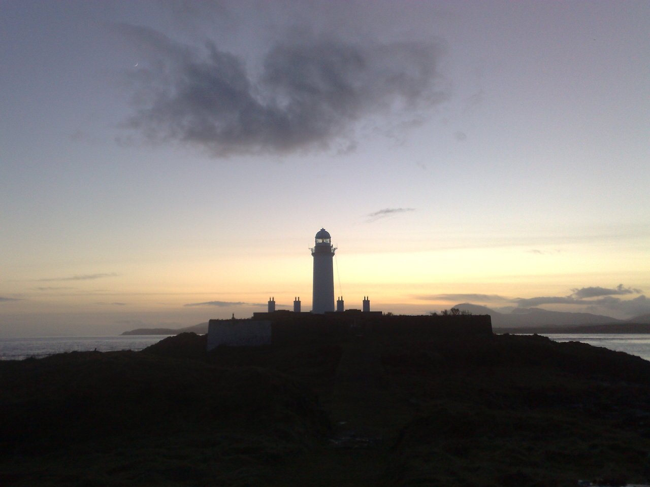 Lismore Lighthouse at sunset