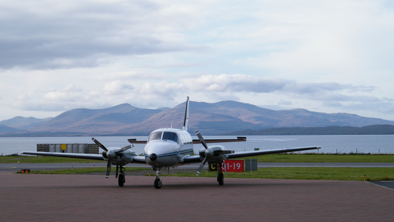 A plane at Oban Airport