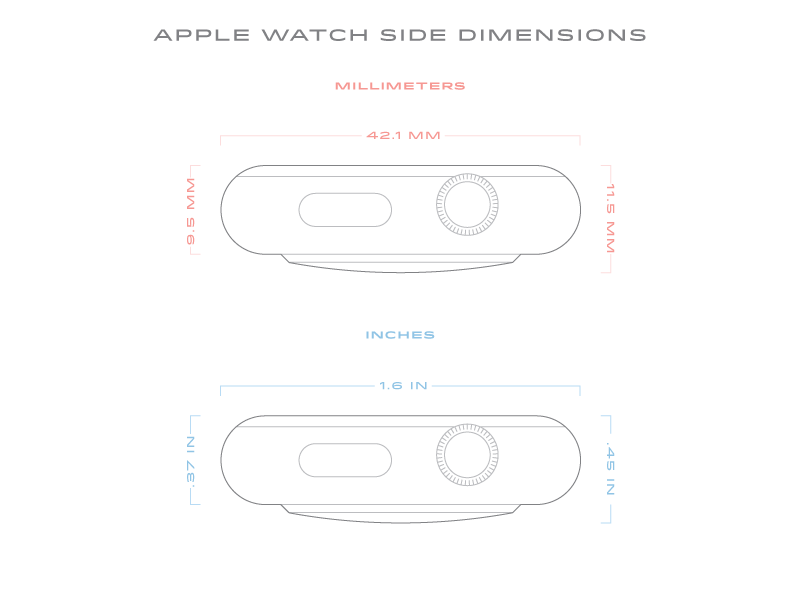 Apple Watch Dimensions Side