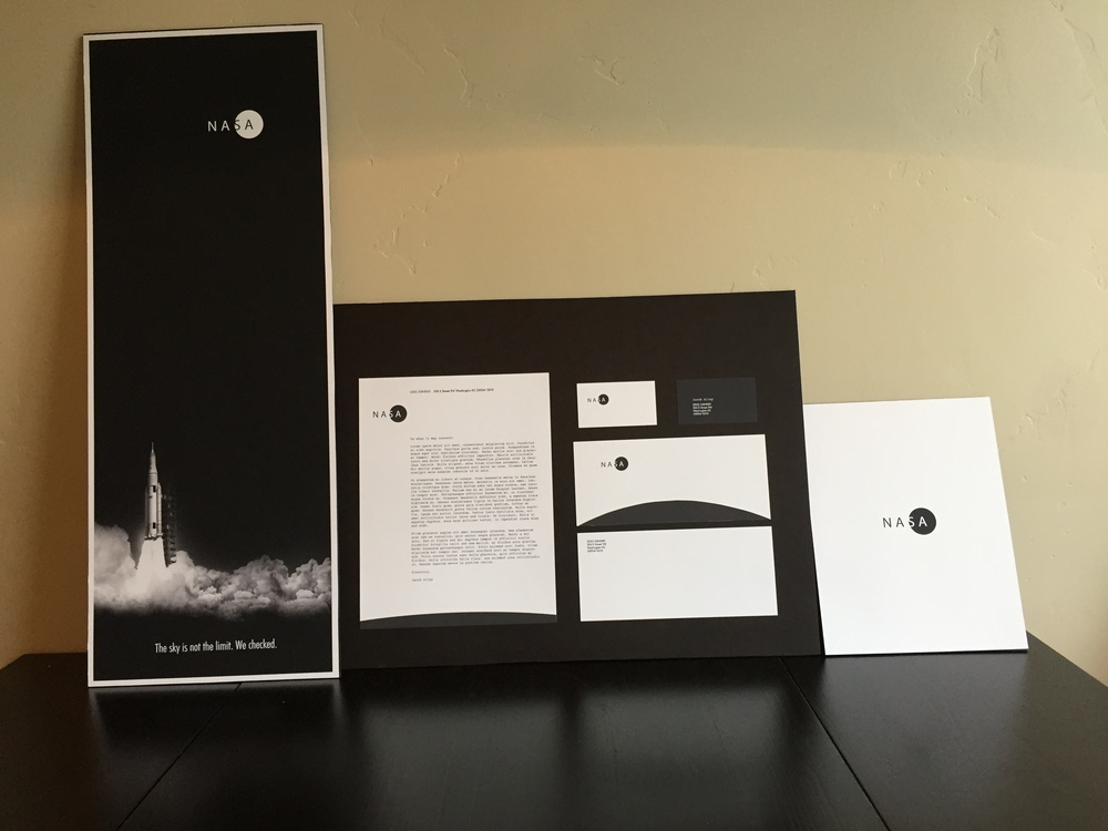 NASA: A Space Organization   Designed by a Graphic Design major