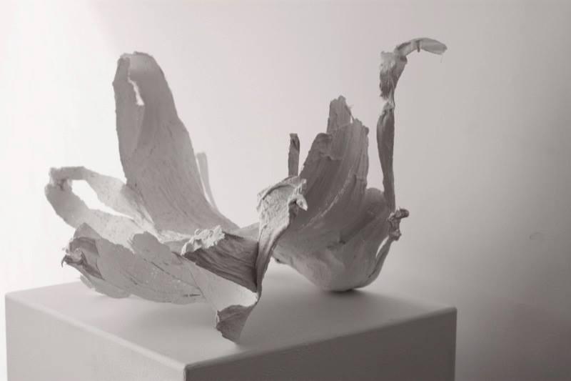Alyssa Rapp, Boneflowe  r , 2013;Plaster, gauze, and vaseline;17 x 15 x 26 inches