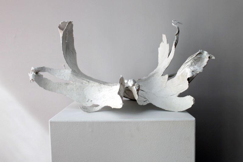 Alyssa Rapp, Boneflowe  r,  2013; Plaster, gauze, and vaseline;17 x 15 x 26 inches
