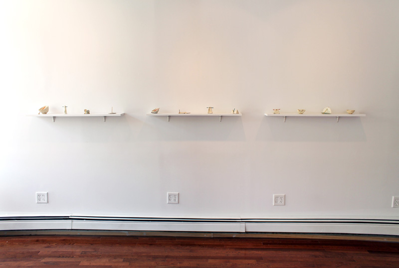Installation view: Leah Wolff,  Desktop Sundials,  2012