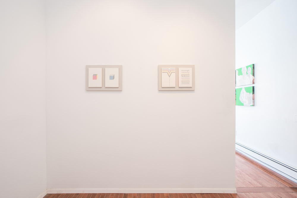 Installation view: Vanessa Hodgkinson, P R E I M A G E, Peninsula Art Space, Brooklyn, New York, 2014
