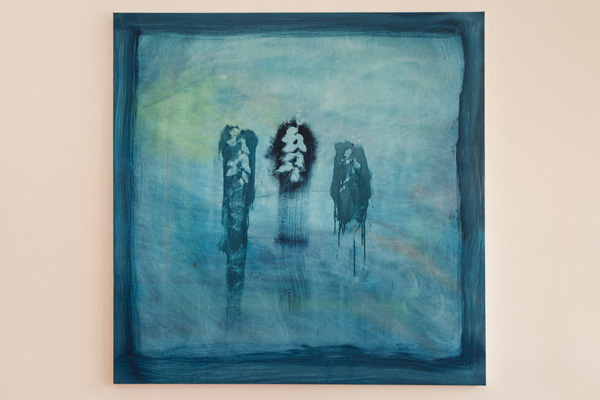 Brian Rattiner  Enchanted (Blue)  2013 Oil on canvas 48 x 48 inches