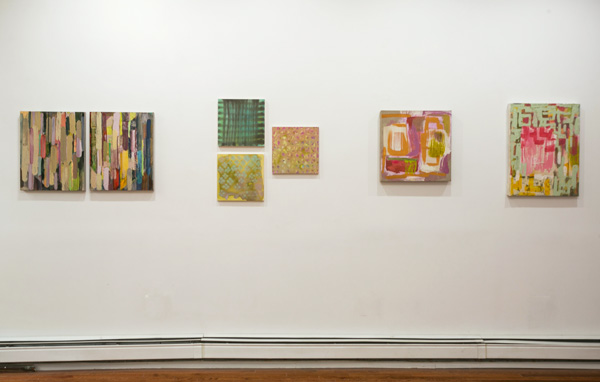 Installation view:   Somewhat Slightly  , Amy Bay, Molly Herman, Meg Lipke, Peninsula Art Space, Brooklyn, NY, 2014
