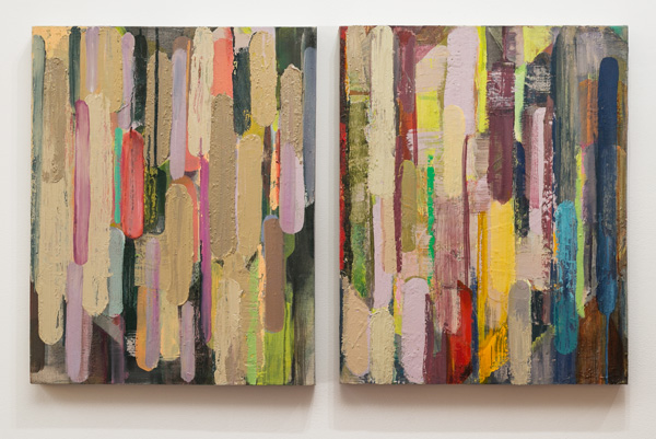 Molly Herman  Sawtooth  2013 Oil on linen In 2 parts: 20 x 32 inches each MH006