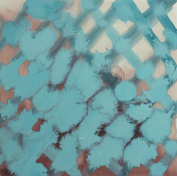Amy Bay  Fourth Lattice  2014 Gouache on laminated panel 12 x 12 inches AB002