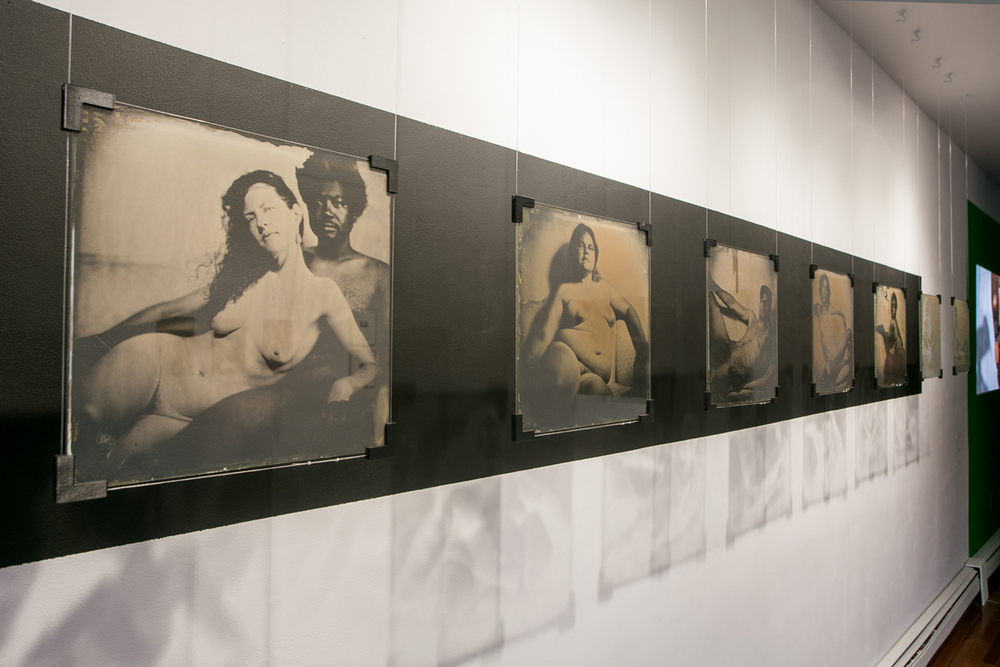 Robyn Hasty   Installation view   2014   Wet plate collodion ambrotype on glass plate     13 1/2 x 13 1/2 inches each