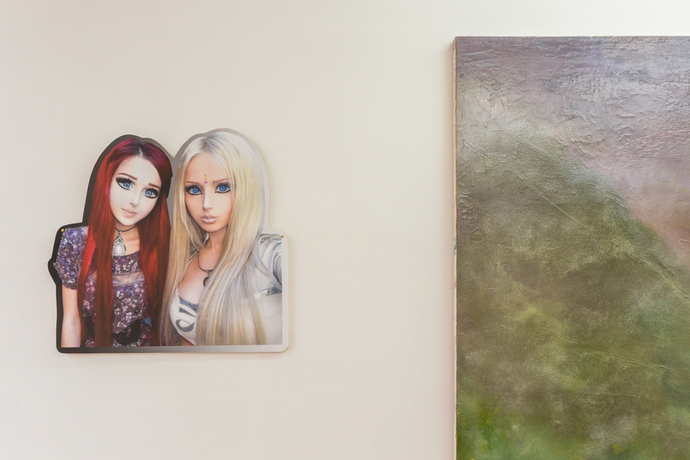 Deirdre Sargent,  Anastasiya and Valeria , 2015 Digital print mounted on panel, 24.5 x 24.5 inches