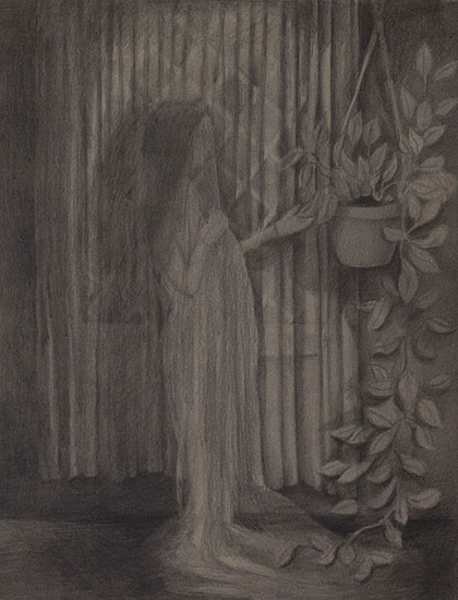 Vanessa Gully-Santiago,  Shadow Drapes , 2014 Graphite on paper, 14 x 11 inches