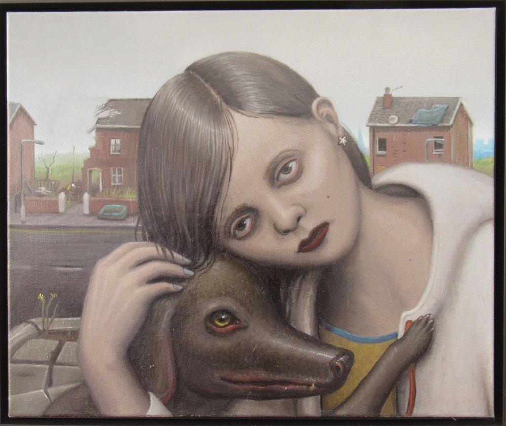 Michael Kirkham, Untitled (girl with dog), 2018