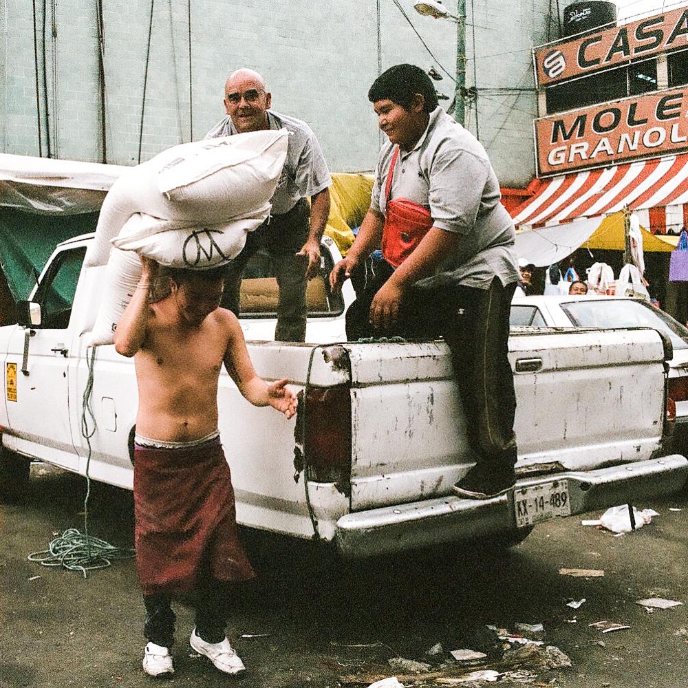 Delivery truck outside La Merced - Mexico City