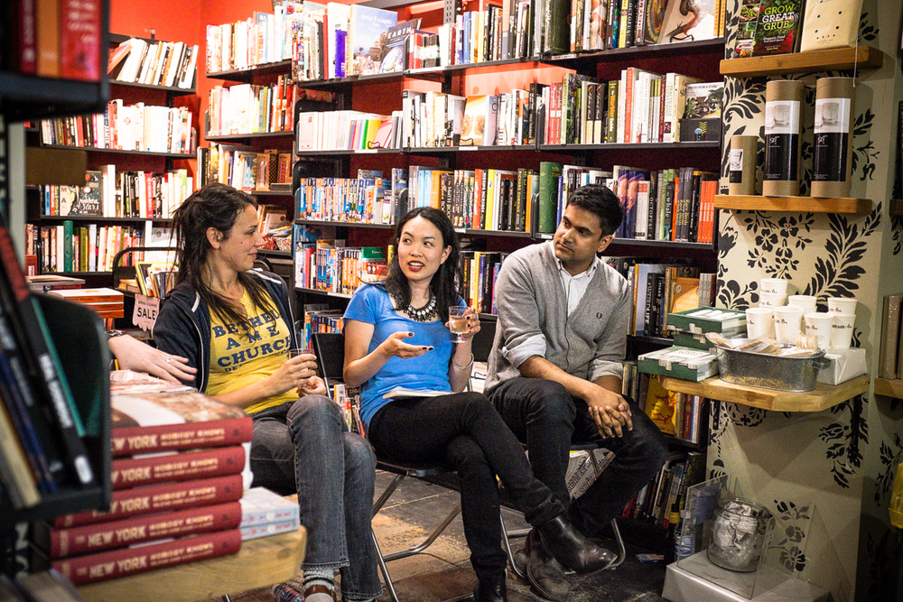 Roundtable on the Short Story with Rivka Galchen, Doretta Lau and Naben Ruthnum. (© 2014 Connie Tsang)