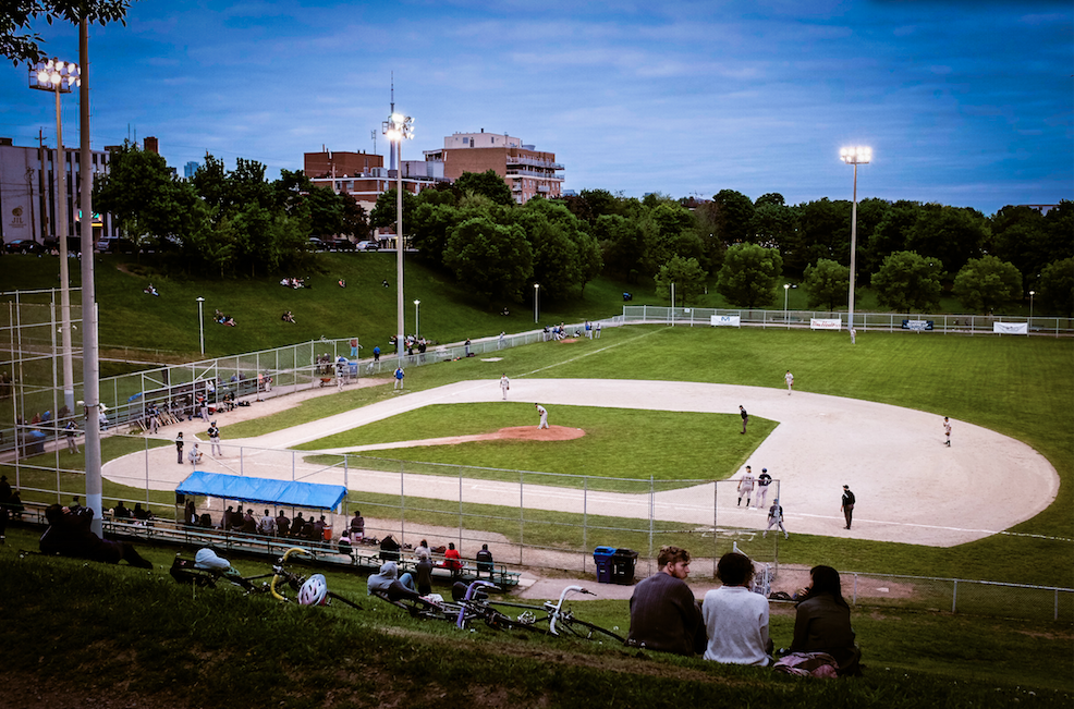 Christie Pits at dusk (© 2014 Connie Tsang)