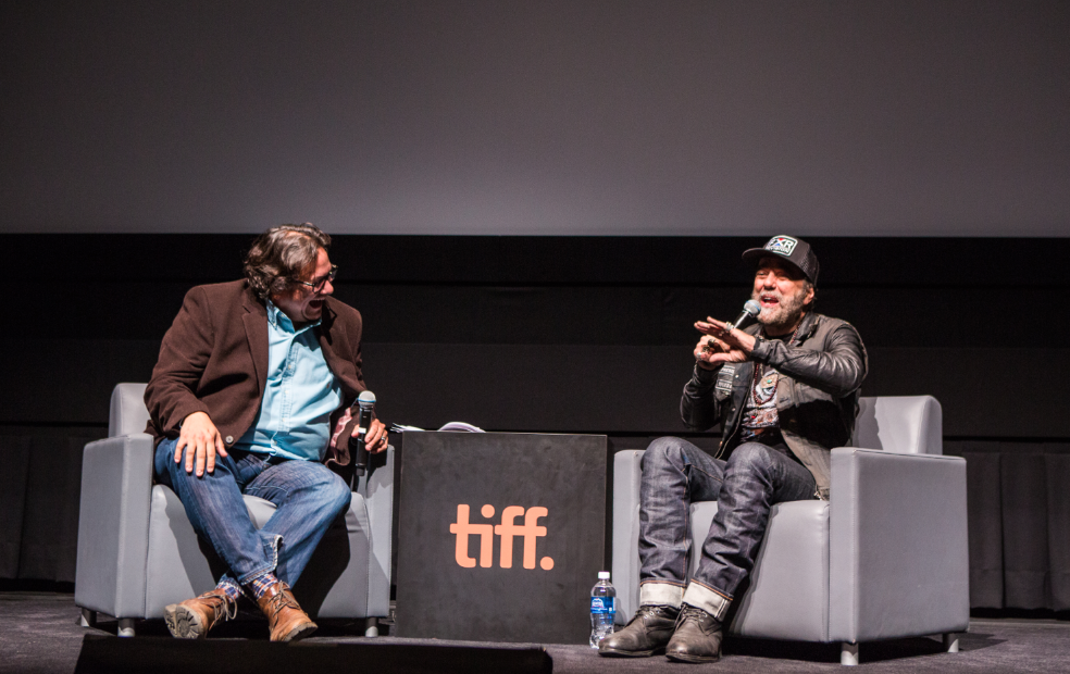 Host Jesse Wente interviews Daniel Lanois (Photo: Connie Tsang for TIFF)