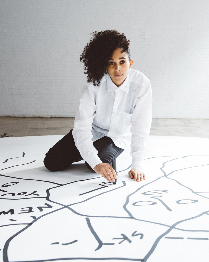 Shantell Martin for Saks Canada (Photo: Connie Tsang)