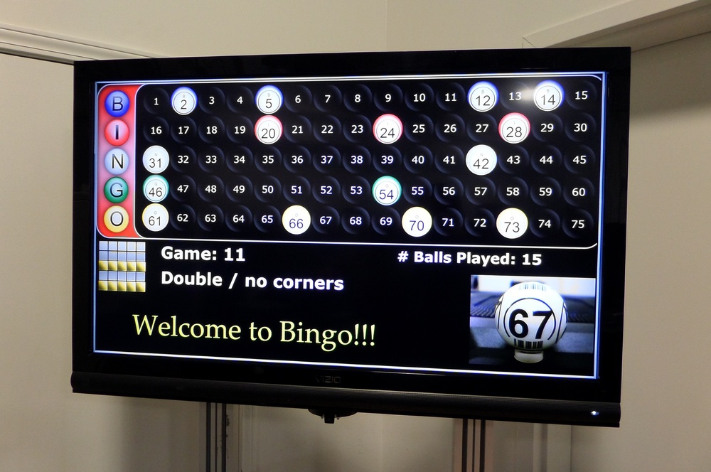 electronic bingo caller machine
