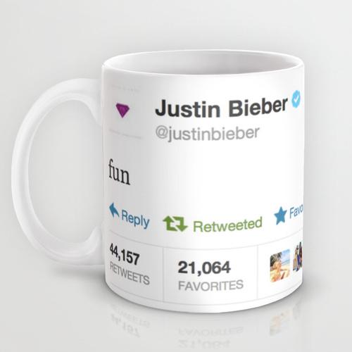Justin Bieber Fun Mug — $15