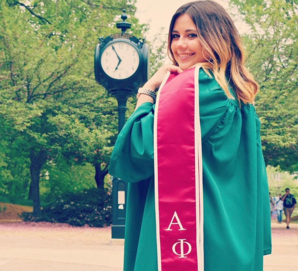 Carly Stonehouse  - Communication with a concentration in Public Relations & a minor in Tourism and Events ManagementFavorite Alpha Phi Memory: Bonding with my pledge class sisters the night before initiation. There is nothing to compare to what it was like hearing each of my future sisters personal reflections on what Aphi means to them. It made us all the more closer and I cherish the close friendships I have made from it ❤️