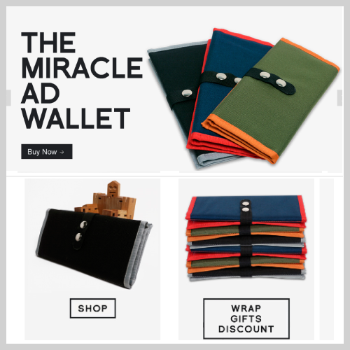 These is the e-commerce website created on Squarespace.  Design: Retail Features: Squarespace template with social media plugins, store and mobile adaptive Challenge: Adapt template to the Miracle AD Wallet brand. Assist client in learning to update the template on his own.   See website