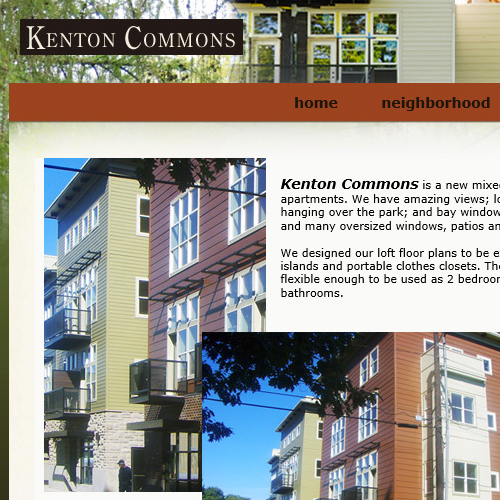 Kenton Commons : Sells apartment living in historic neighborhood.  See website