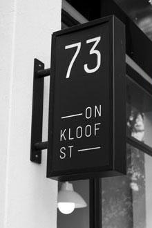 73 on Kloof  73 Kloof Street   Take Care  &  Adriaan Kuiters