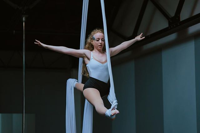 Have you been wanting to try aerial silks yet?! We still have spots available for our intro class tomorrow night!  Sign up while you can - this class usually has a waitlist!!
