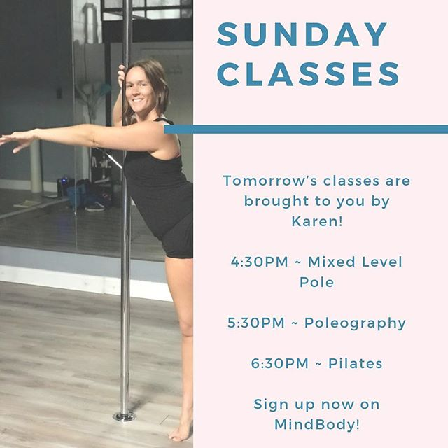 After you Sunday Funday around #Lexington tomorrow, stop in for an afternoon/evening class with Karen!  Sign up now on MindBody or check out Classes on our website ✨