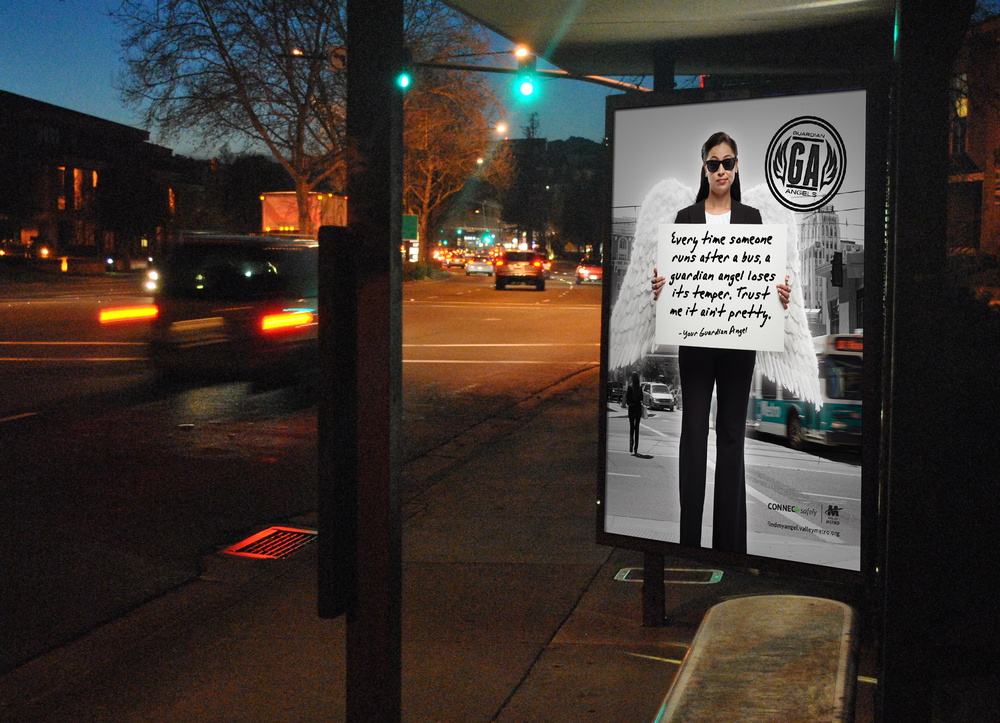 VM Safety Campaign Bus Shelter   Art Direction: Katie Blaker, Lauren Tree   Copywriting: Lauren Tree   Creative Direction: Jason Smith