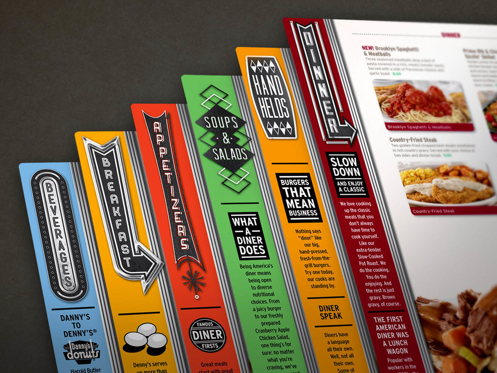 Denny's Diner Menu - Side Banners Creative Direction: Andy Mendelsohn Art Direction: Katie Blaker