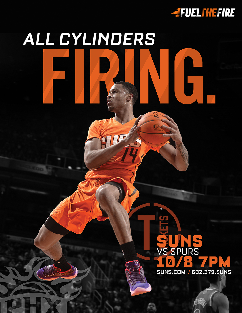 Phoenix Suns Print Ad Art Direction: Katie Blaker, Hugh Mulligan Creative Direction: GG LeMere, Greg Fisher, Jason Smith