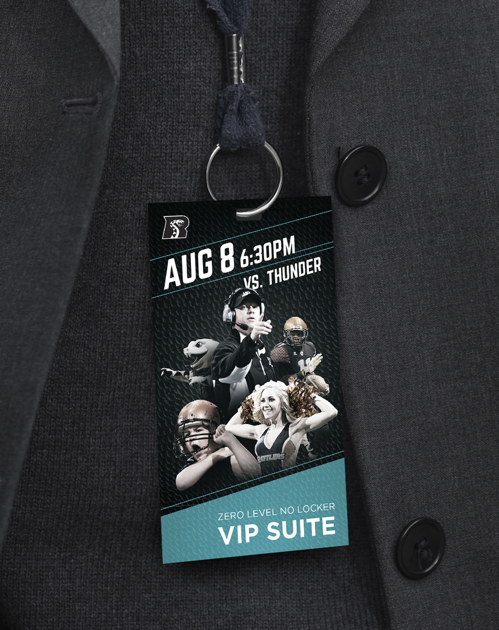 Arizona Rattlers Arena Credentials Art Direction: Katie Blaker, Hugh Mulligan Creative Direction: GG LeMere, Greg Fisher