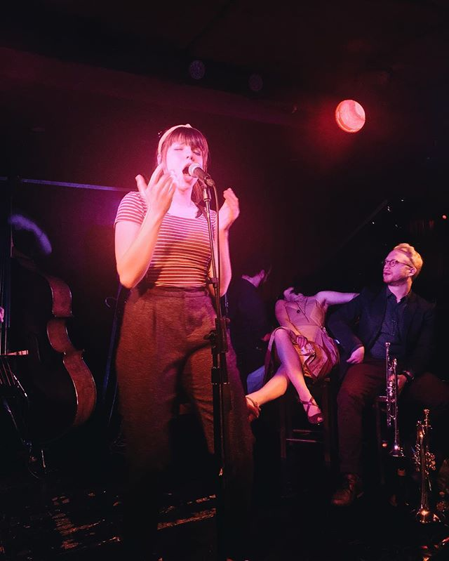 Jenna's wailing for you to come to our *NEARLY SOLD OUT* final show tonight at @thegreenroom42 🎺 be there or be a kazoo!
