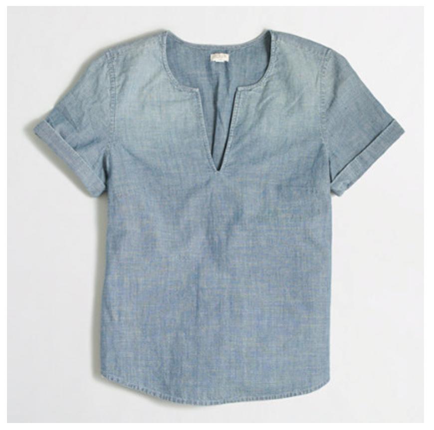 jcrew factory Denim Shirt