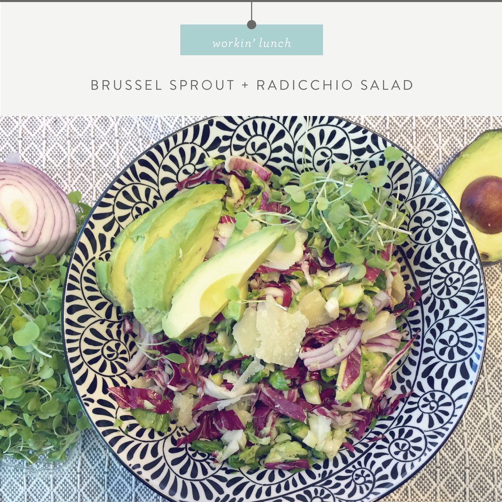 Shaved Brussel Sprout and Radicchio Salad