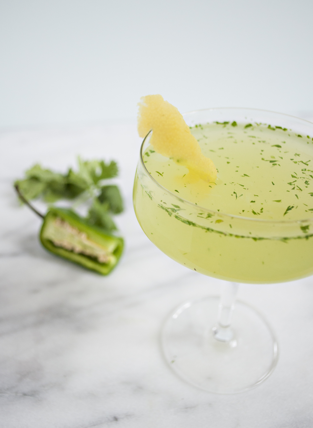 Spicy Garden Herb Lemon-Lime Drop