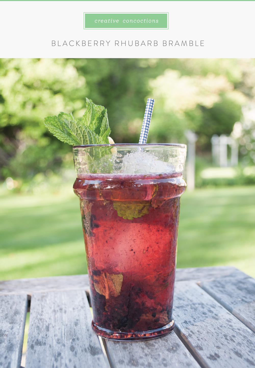 Blackberry Rhubarb Bramble Cocktail