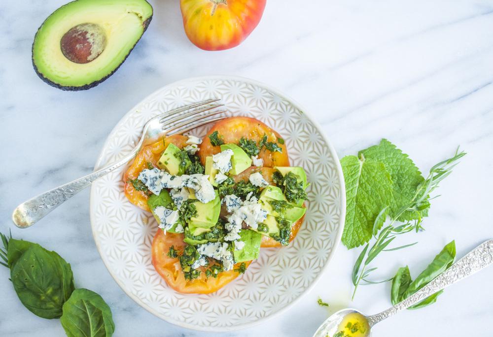 Heirloom Tomato Salad with Fresh Herb Vinaigrette