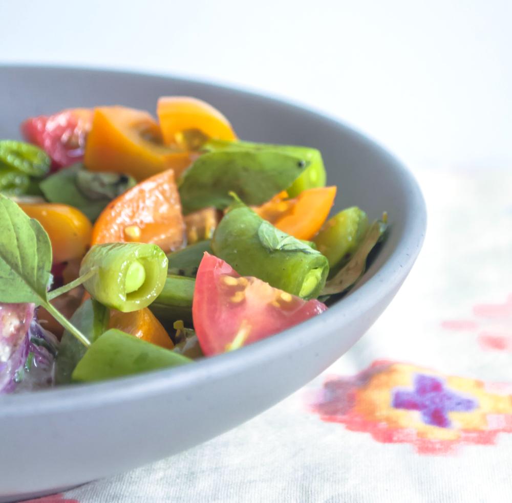 Cherry Tomato and Snap Pea Salad