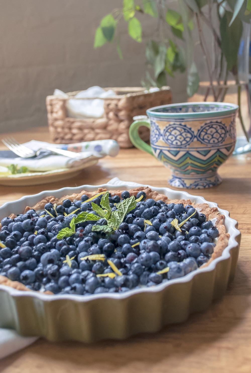 Blueberry Lemon Yogurt Tart