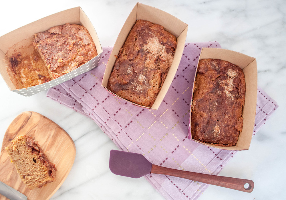 Whole Wheat Butternut Squash Bread with Maple and Cinnamon Sugar Topping