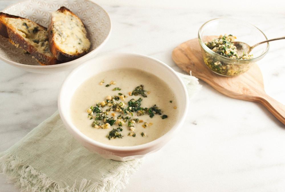 Summerfield Delight | Jerusalem Artichoke Soup from the Nopi Cookbook