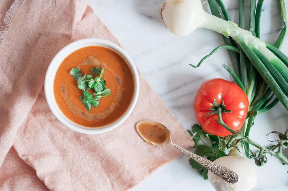 Summerfield Delight | Tomato Miso Soup by Anna Jones