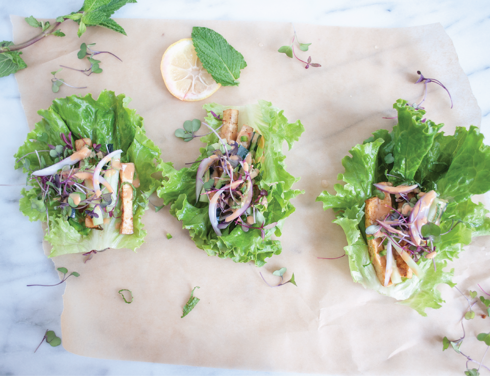 Summerfield Delight | Baked Tofu Lettuce Wraps