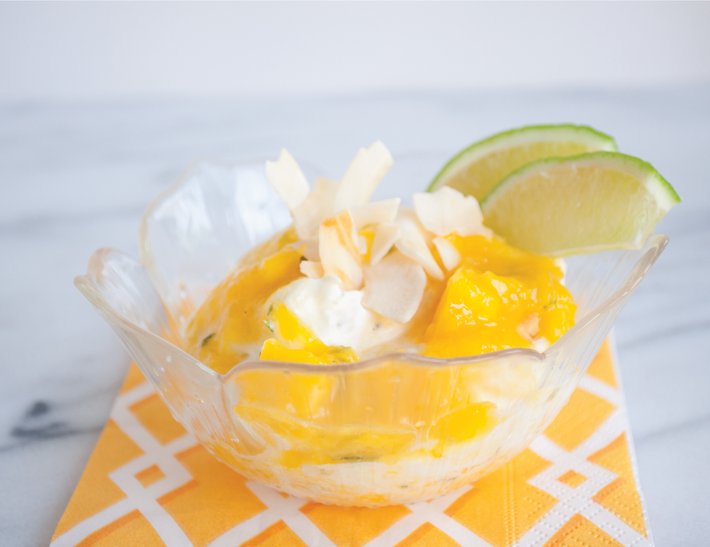 Summerfield Delight | Mango Lime Fool with Coconut Chips