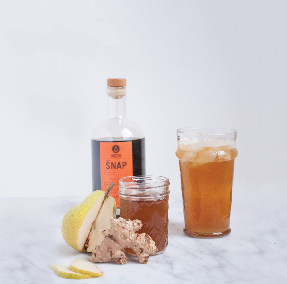 Summerfield Delight | Snappy Pear Cider with Homemade Ginger Syrup and Snap by Art in the Age