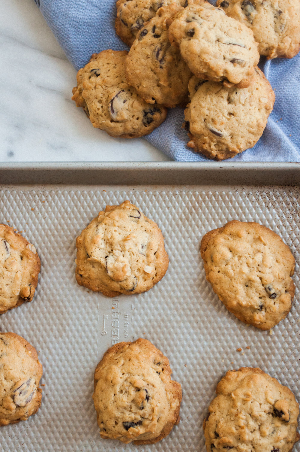 Summerfield Delight by Meg Summerfield | Review of Small Victories Cookbook by Julia Turshen | Chocolate Chip Oatmeal Cookies