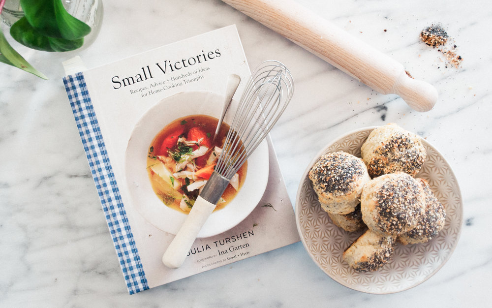 Summerfield Delight by Meg Summerfield | Review of Small Victories Cookbook by Julia Turshen  | Everything Biscuits